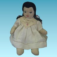 Vintage Homemade Cloth Body Dolly
