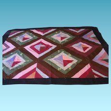 Amish Made Lap Throw or Baby Quilt