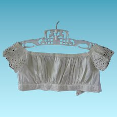1800s Childs Bodice Chemise Summer Time Blouse for Doll