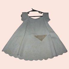 Antique Civil War Era White on White Baby Dress