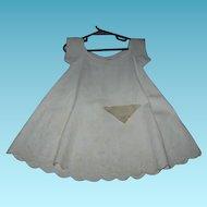 Civil War Era Baby Dress White on White
