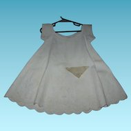Civil War Era Baby Dress White on White