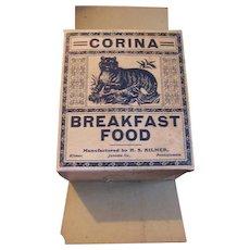 Circa 1910 Corina Breakfast Food Sample Box by H S Kilmer Juniata Co Pa