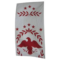 Eagle And Stars Quilted Wall Hanging