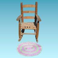 Handmade 2 Tone Oval Dollhouse Mat or Rug