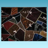 Rich Velvet Crazy Quilt 1923 Lancaster County Pa Mennonite Beauty