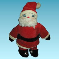 Vintage Santa Sock Doll with Embroidered Face