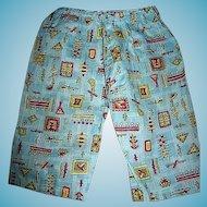 Vintage Novelty Fabric Pants for Boy Doll or Teddy Bear