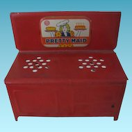Marx Red Pretty Maid Toy Stove for Dollhouse or Display