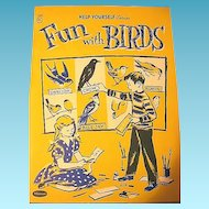 Fun with Birds 1958 Kids Book