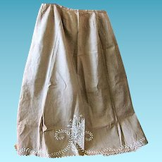 Antique Ladies Embroidered Over Skirt or Apron