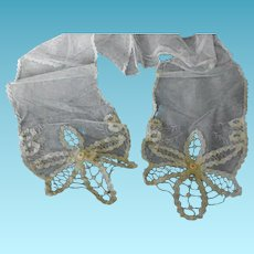 Antique Net Lace Scarf or Sash Edwardian or Victorian Era