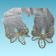 Antique Net Lace Scarf or Sash for Edwardian or Victorian Summer Dress