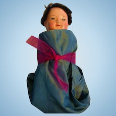 Oriental Jointed Composition Sweet Faced Travel Doll