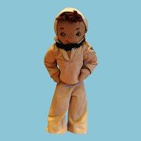 Wonderful Handmade WWII Sailor Boy Cloth Doll