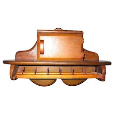 Vintage Wooden Rack for Doll Clothes Jewelry or Scarves
