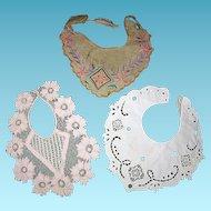3 Vintage Collars for Framing or Doll Dresses