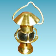 Miniature Brass Lantern for Dolly