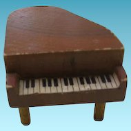 Miniature Wooden Dollhouse Grand Piano