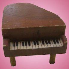 Miniature Wooden Dollhouse Grand Piano