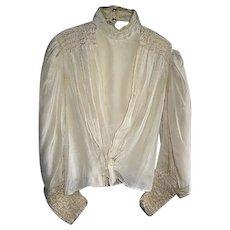 Antique Lovely Victorian Fancy Ladies Blouse