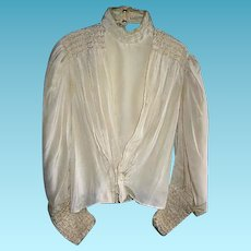 Antique Lovely Victorian Fancy Ladies Blouse