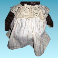 Old Calico Dress with Collar for Doll or Bear