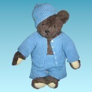 Hand Made Blue Outfit for Bear or Doll