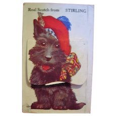 Scotty Dog Featured on Novelty Postcard with A Real Scotch from Stirling