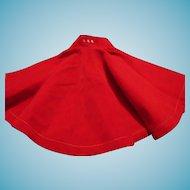 Red Velvet Skirt with Rhinestones for Doll