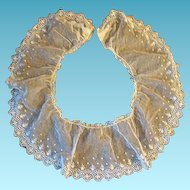 Wonderful Antique Net Lace Collar