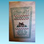Vintage Counted Cross Stitched Sampler to Frame