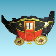 Vintage Hallmark Dickens Era Carriage with Horses Christmas Decoration