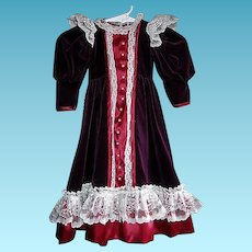 Lovely Holiday Dress for Your Favorite Antique Doll