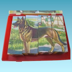 Toy Animal Puzzle Blocks from Western Germany
