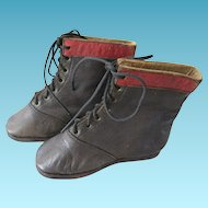 Antique Salesman Sample Baby Boots or Toddler Shoes