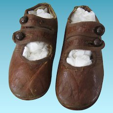 Two Strap Leather Baby Shoes