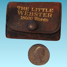 Miniature Book Leather Bound The Little Webster 18000 Words