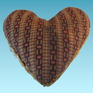 Antique Amish Made Heart Shaped Pin Cushion
