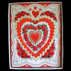 2 Large Boxed Valentine Cards Lovely & Sentimental From Years Past