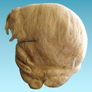 Vintage Mohair Wig for Large Doll