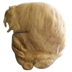 Vintage Mohair Wig for Large Doll (on hold)