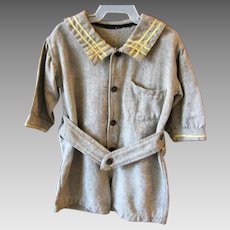 Rare Boys Brown Wool Sailor Suit Early 1900s WWI Era