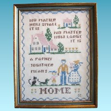Vintage Family Needlework Sampler