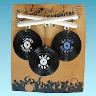 Vintage Big Band Swing Greats Dorsey Herman and Gray Record Pin