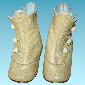 Antique Baby Shoes Perfect for Large Doll