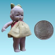 Miniature Bisque Doll for Dollhouse or Display