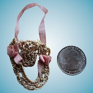Tiny Hand Crocheted Thimble Keeper Great for Doll Sewing Kit