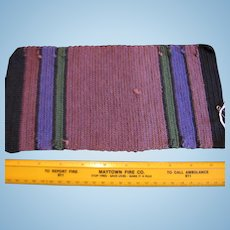 Old Amish Made Handwoven Rug for Dollhouse