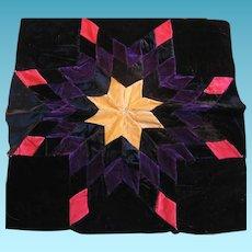 Vintage Velvet Starburst Pillow Top Work in Progress